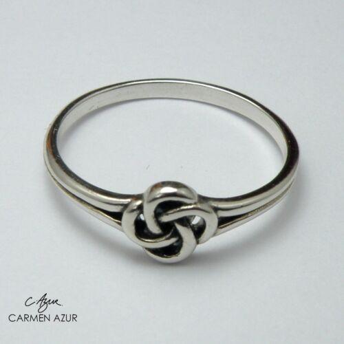 Bolsa De Regalo N1//2 q P1//2 Sólido anillo de plata esterlina 925 Celta Nudo Cuadrado Talla L N