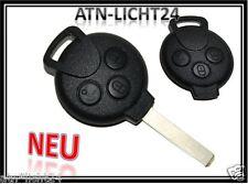 3 Tasten Funk Schlüssel Bart Gehäuse SMART Fortwo 450 Forfour 451 Roadster Coupe