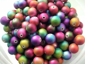 40-x-Satin-acrylic-12mm-ROUND-beads-in-choice-of-tonal-colours-ideal