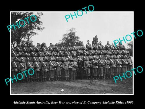 OLD HISTORIC PHOTO OF ADELAIDE SA, THE BOER WAR B Company ADELAIDE RIFLES c1900