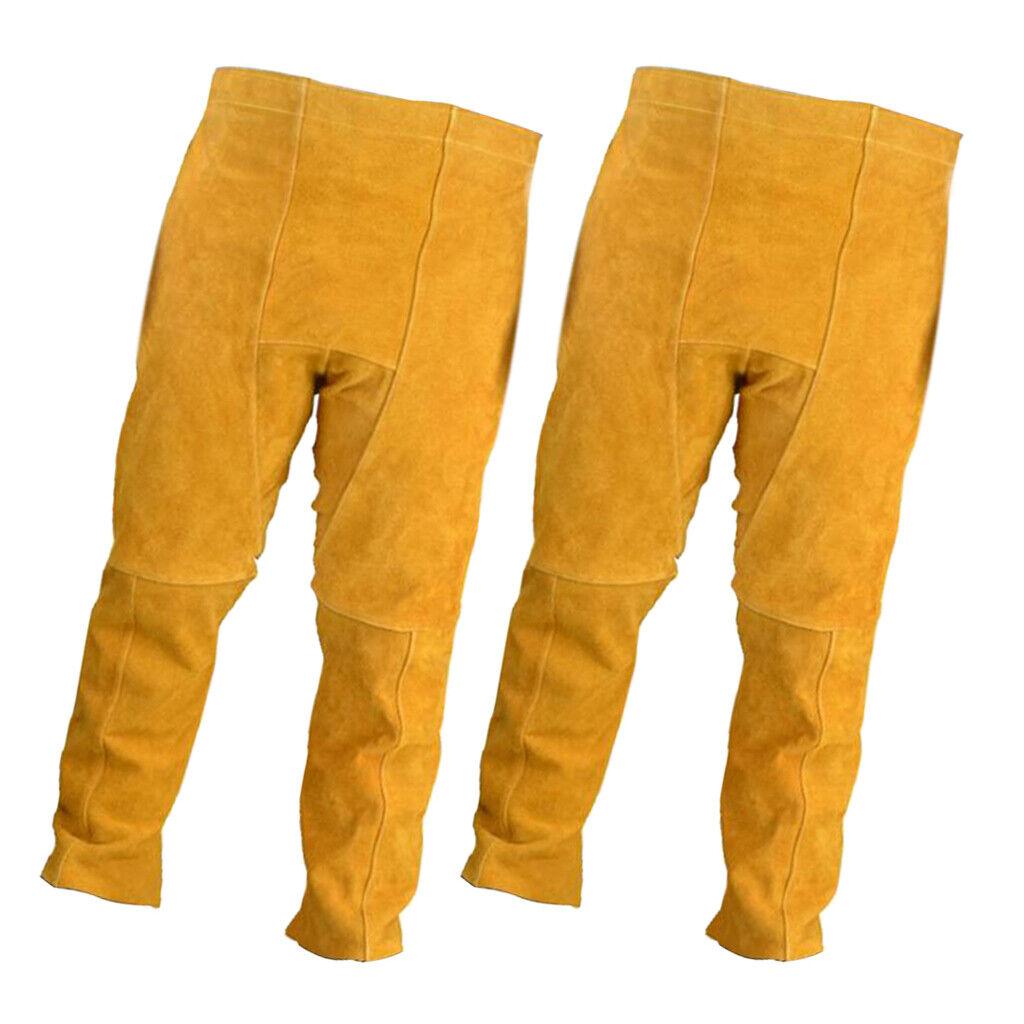 2x Pantaloni per saldatura elettrica Abbigliamento projoettivo, antifiamma