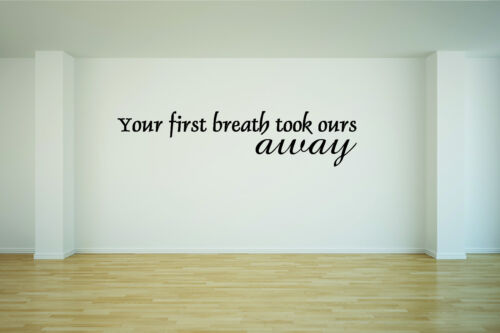 Your First Breath Took Ours Away Vinyl Decal