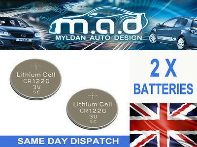 2 X BATTERIES FOR LAND ROVER RANGE ROVER KEY FOB CR2032