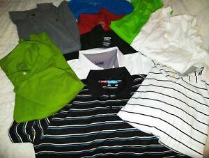 Men-039-s-Polo-Style-GOLF-Sport-Shirt-Green-White-grey-Blue-Black-Size-XL-XXL
