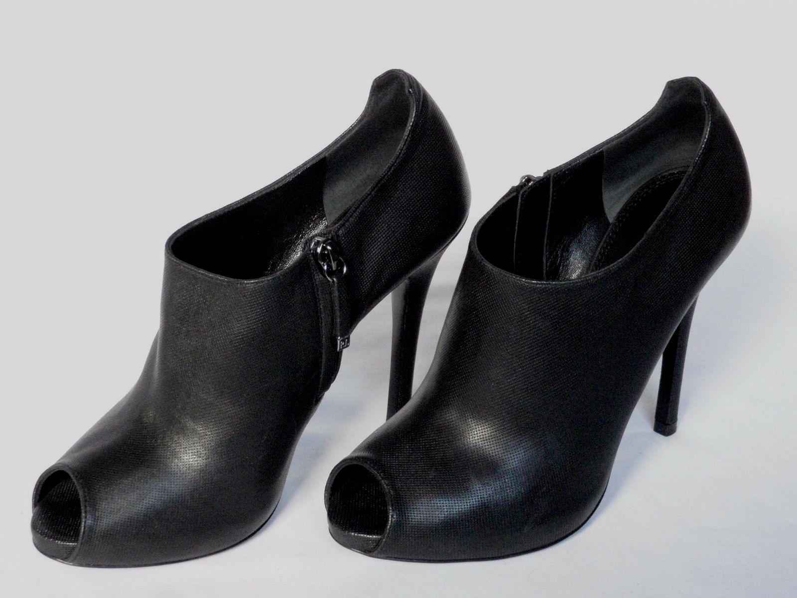 NUOVO Donna Ralph Lauren Scarpa in pelle nera Jassie Boot EU 38 US 8