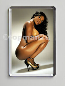 New, Quality Fridge Magnet, Sexy Glamour Model - Big Boobs - Heels - Naked
