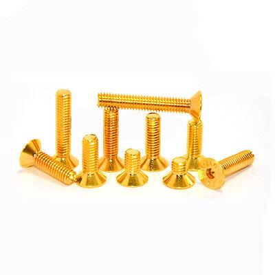 M2/M2.5 Allen Screw Hex Socket Countersunk Head Screw Ti Gold Plated Golden Bolt