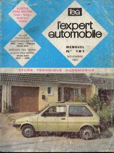 Rta Revue Technique Automobile N° 181 Austin Mini Metro Rover 1000 2600