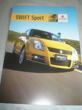 Suzuki Swift Sport brochure Aug 2007 New Zealand market