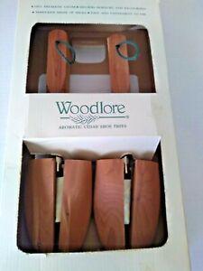 Woodlore Aromatic Cedar Shoe Trees Men's Medium Adjustable Vintage New In Box