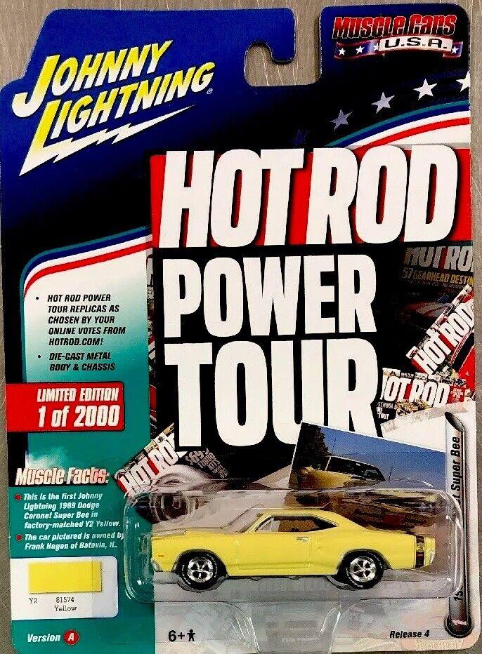 mas barato Johnny Johnny Johnny Lightning 1969 Dodge Coronet súper Bee Amarillo Hot Rod la versión 4 de alimentación  entrega rápida