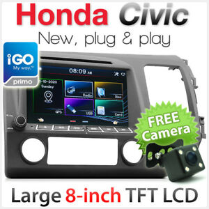 8 honda civic car dvd gps player stereo radio head unit sat nav image is loading 8 034 honda civic car dvd gps player publicscrutiny Image collections