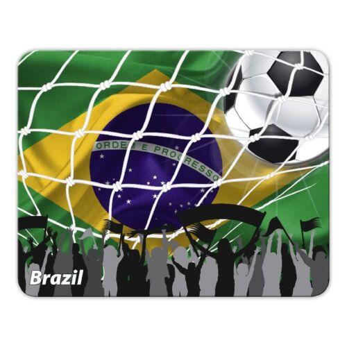 "Brasil Fußball Flagge Brasilien Mousepad /""WM/"" Moosgummi"