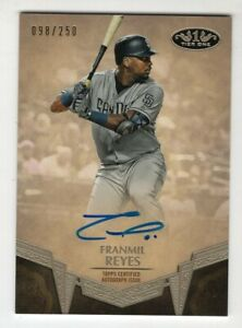 Franmil-Reyes-2019-Topps-Tier-One-Autographed-039-d-250-San-Diego-Padres-NM