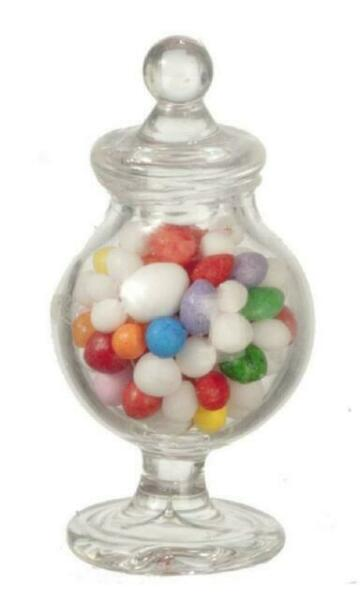 Doll House Sweets Tutti fruity candy sticks in glass jar dolls house 1//12 h//made