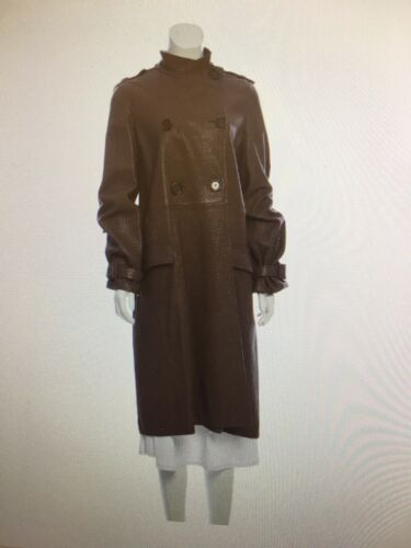 BOTTEGA VENETA Long Leather Trench Coat Women size