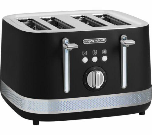 MORPHY RICHARDS Illumination 248020 4-Slice Toaster Wide Slots Black Currys