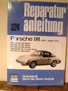 Band 324 Reparaturanleitung Bucheli Konstruktiv Porsche 911 1963-august 1975