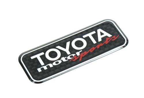 Genuine New TOYOTA MOTOR SPORTS BADGE Aygo Yaris Corolla Celica MR2 Supra Drift