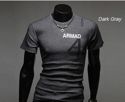 étiquettes mode décontractée Armada T-shirt manches courtes M//L SLIM RU Neuf W