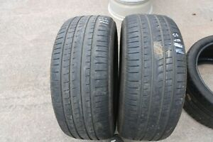 Paire-de-Pirelli-P-Zero-Rosso-255-50-R19-pneus-Mo-DOT18-5-5-mm-No-Reparations