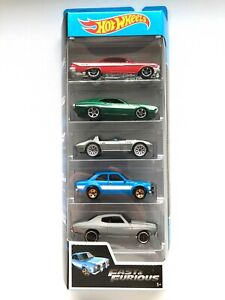 Hot-Wheels-2019-FAST-amp-FURIOUS-Set-5-pack-Mattel-Diecast-FYL16