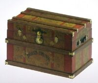 Lithograph Wooden Trunk Kit Dollhouse - Dolls Trunk