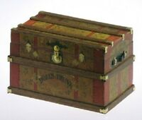 Lithograph Wooden Trunk Kit Dollhouse - Dolls Trunk