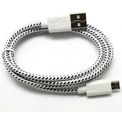 1/2/3M Braided USB Micro Data Sync Charger Cable Cord for Samsung Android HTC