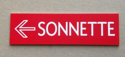 plaque gravée personnalisée SONNETTE ESCALIER   Format 29 x 100 mm ASCENSEUR