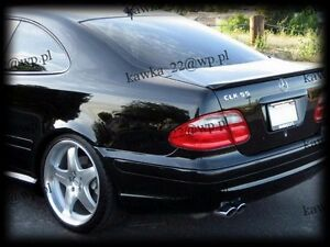 Mercedes-CLK-W208-Coupe-Rear-Trunk-Boot-Lip-Spoiler-PRIMED-amp-QUALITY