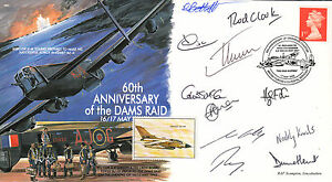 Image Is Loading MF6e 617 Dambuster Lancaster Squadron RAF Cover Signed