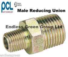 PCL MALE Reducing Union - Air compressor hose / line fitting 3/8 x 1/4 BSP   826