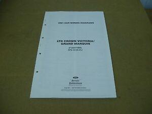 [DIAGRAM_1JK]  1991 Ford Crown Victoria Grand Marquis wiring diagram SHEET service shop  manual | eBay | 1991 Mercury Grand Marquis Wiring Diagram |  | eBay