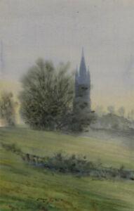 Orlando-Greenwood-RBA-1892-1989-Early-20th-Century-Watercolour-Winter-Mist