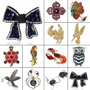 Chic-Crystal-Animal-Butterfly-Owl-Brooch-Pin-Women-Creative-Party-Jewelry-Gift