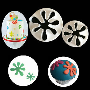 2Pcs Baby Feet Icing Cutter Cookies Mould Fondant Cake Decorating Mold Tool UK