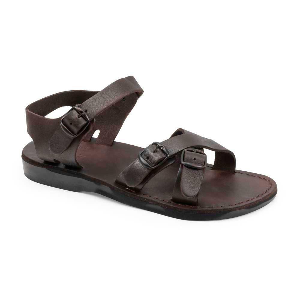 James - Leather Adjustable sandal | Brown