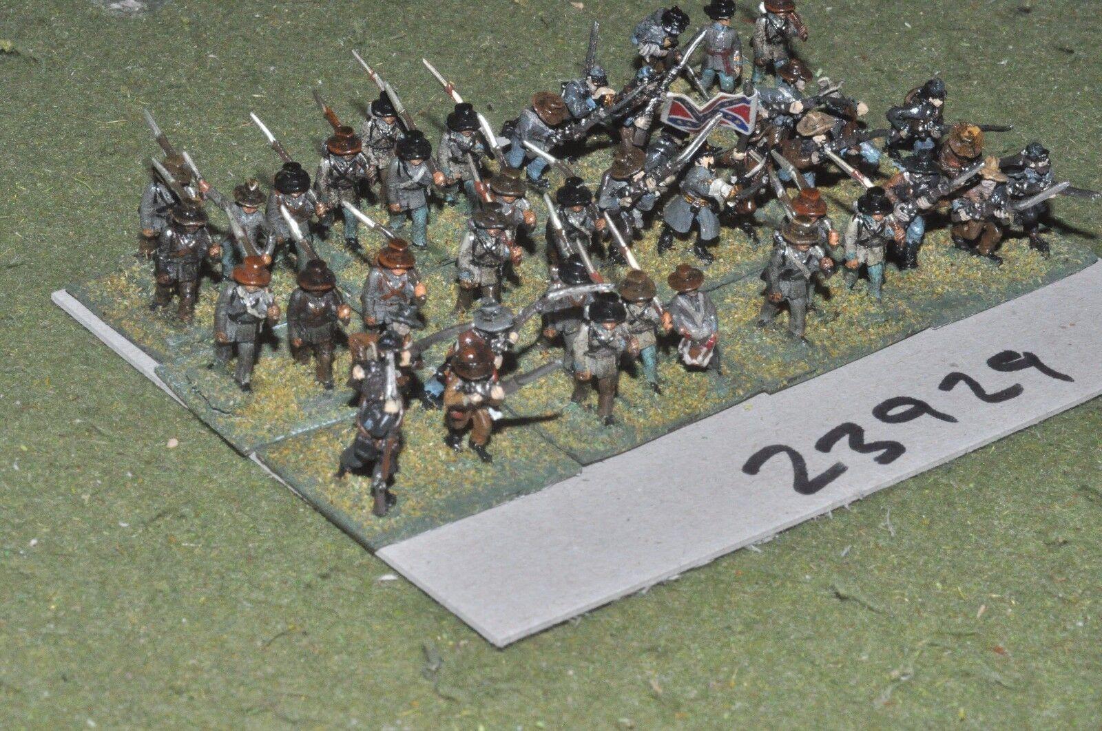15mm ACW   confederate - regiment 40 figures - inf (23929)