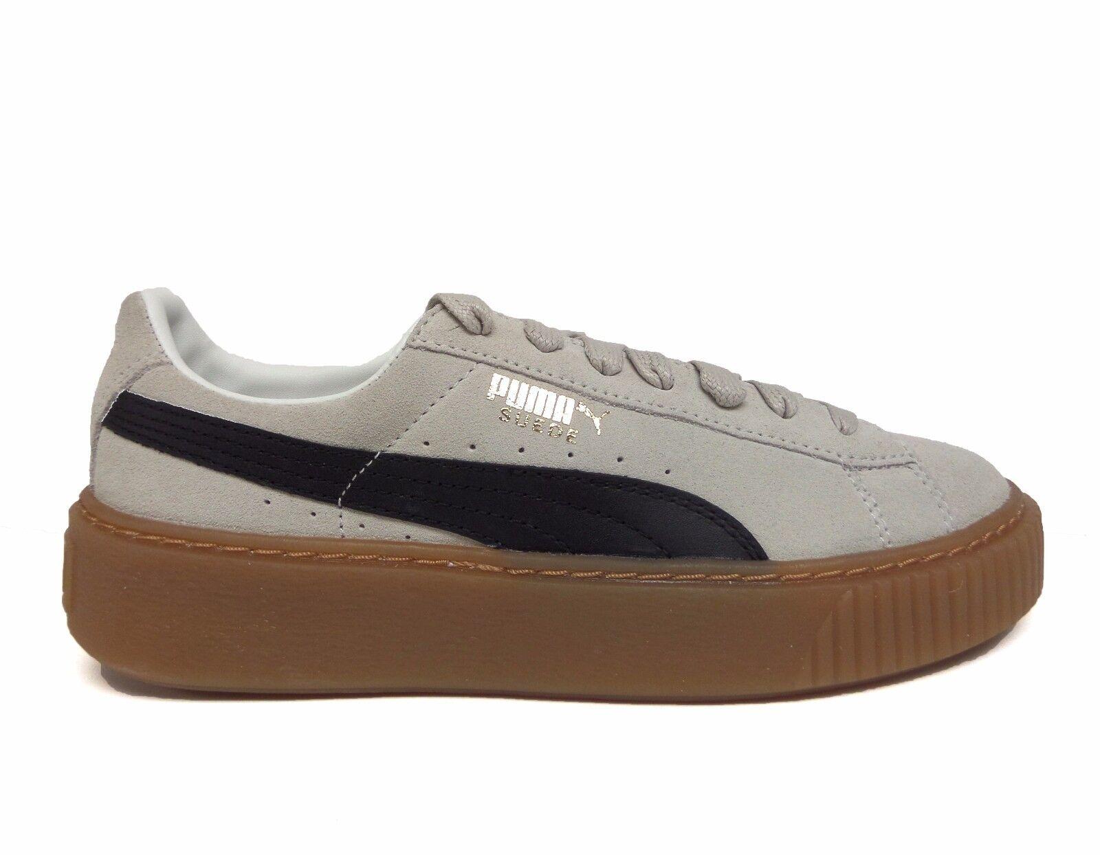 Le scarpe di camoscio, nero piattaforma centrale bianco / nero camoscio,