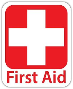 Two Pack First Aid Kit Inside Sticker Decal Vinyl emergency rescue FA Vinyl