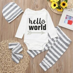 28917424394 Details about Newborn Infant Baby Boys Girl Romper Pants Bodysuit Sunsuit Outfit  Set Clothes