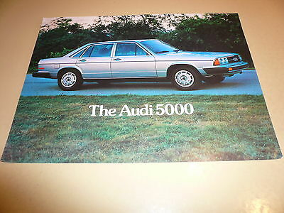 1984 Audi 20-page Original Car Sales Brochure 4000 5000 Quattro Coupe Turbo GT
