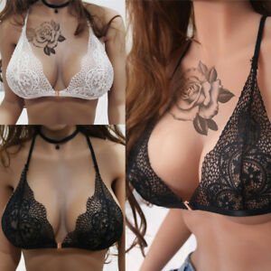 65a4303464156 Women Lace Lady Bra Bralette Front Closure Push Up Cup Underwear ...