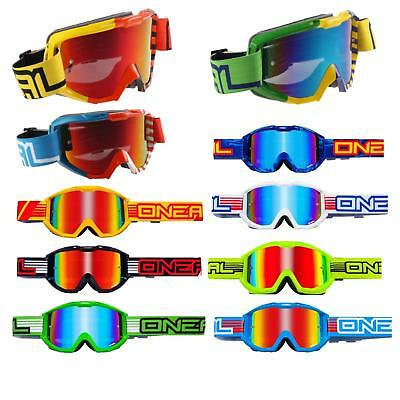 O 'neal B1 Radium Mx Goggle Motocross Occhiali A Specchio Cross Enduro Dh Downhill-