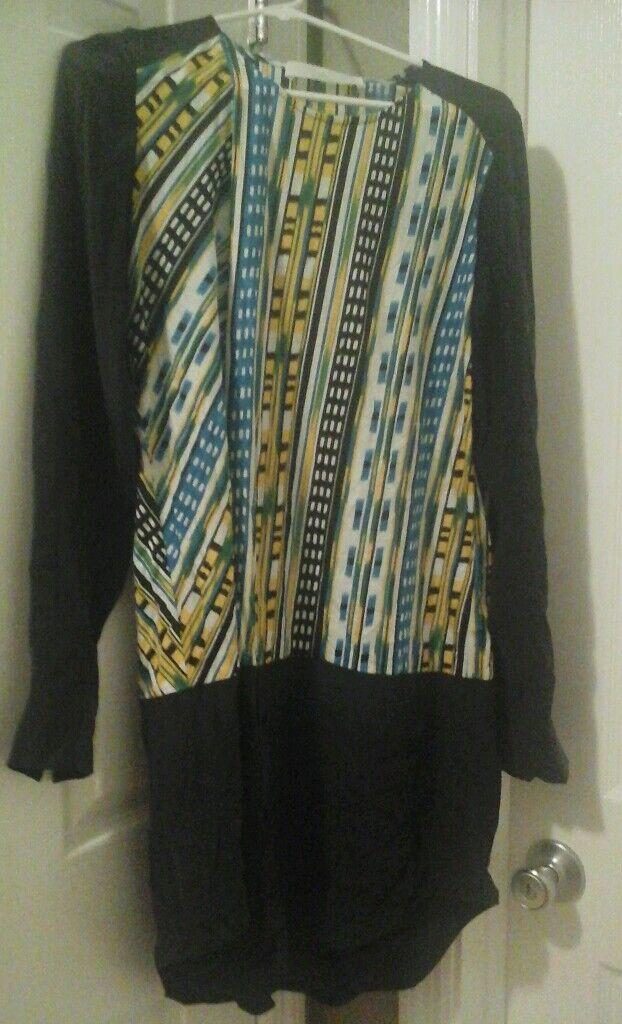 Thakoon Addition Damen Grün Gelb Blau Schwarz Weiß Seide Minikleid | Moderne Muster  | New Products  | Gemäßigten Kosten