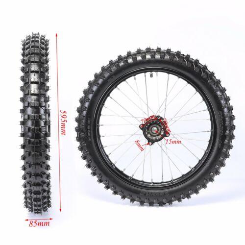 "70//100-17/"" 1.6*17 Front Wheel Knobby Tyre F PIT PRO Dirt Bike Rim Tyre Tire"