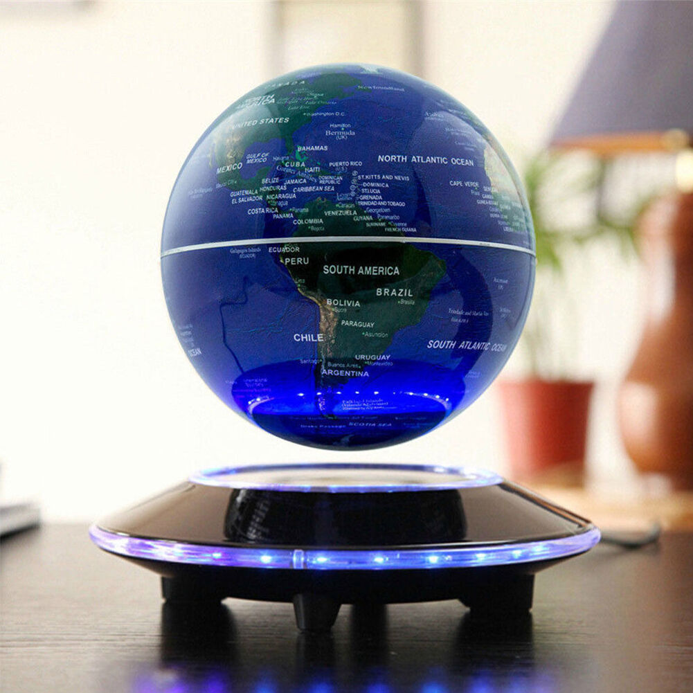 "6/"" Magnetic Levitating Anti-Gravity Floating Globe World Map Office Decor K4V9"