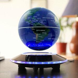 6'' Magnetic Levitation Globe Floating Rotary World Map LED Globe Automatic