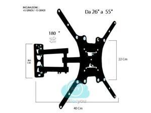 Staffa-porta-tv-monitor-da-26-a-55-supporto-parete-braccio-180-fino-a-400-40